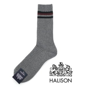 HALISON/ハリソン/アイビークルーソックス/グレー/hal341407|rootweb