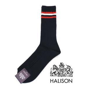 HALISON/ハリソン/アイビークルーソックス/ネイビー/hal341408|rootweb