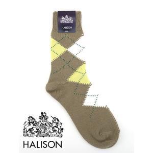 HALISON/ハリソン/アーガイルソックス/ベージュ/hal341411|rootweb