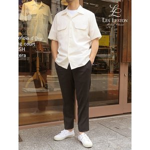 LES LESTON/レスレストン/オープンカラーシャツ 半袖/生成り/エクリュ/les341201|rootweb