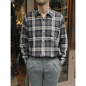 LES LESTON/レスレストン/オープンカラーシャツ/長袖/ブラックチェック/les341801|rootweb