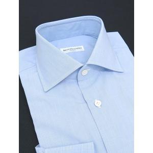 MONTESARO/モンテサーロ/ドレスシャツ/ワイドカラー/ブルー/mot301601|rootweb
