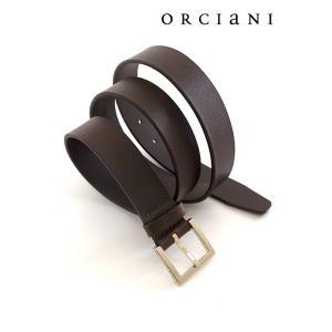 ORCIANI/オルチアーニ/レザーベルト/マイクロ型押し/ダークブラウン/orc340602|rootweb