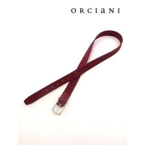 ORCIANI/オルチアーニ/ストレッチソフトレザーベルト/レッド/orc340606|rootweb