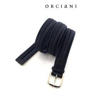 ORCIANI/オルチアーニ/ストレッチメッシュベルト/ネイビー/orc340610|rootweb