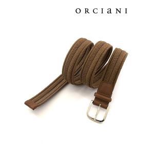 ORCIANI/オルチアーニ/ストレッチメッシュベルト/ライトブラウン/orc340611|rootweb