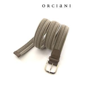 ORCIANI/オルチアーニ/ストレッチメッシュベルト/グレージュ/orc340612|rootweb
