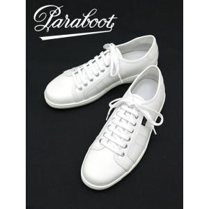 Paraboot/パラブーツ/レザースニーカー/GAME/ASTON SOLE/ホワイト/par342001|rootweb