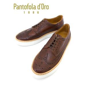 Pantofola d'Oro/パントフォラドーロ/レザースニーカー/ウィングチップ/WEL2/ブラウン/pdo342001 rootweb