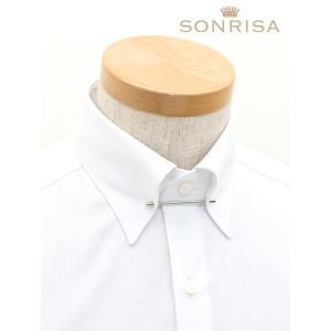 SONRISA/ソンリーサ/ドレスシャツ/ストレッチ/ピンホールカラー( ピン付属)/ホワイト/son340401|rootweb