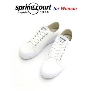 Spring Court/スプリングコート/レディース/キャンバススニーカー/G2/ホワイト/spc340801 rootweb