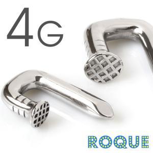 ボディピアス 4G インパクト釘モチーフ フックボディピアス(1個売り)(オマケ革命)|roquebodypieace