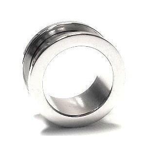 ボディピアス 20mm 定番 シンプル フレッシュトンネル (シルバー)(ハイゲージ)(ボディーピアス)(1個売り)(オマケ革命)|roquebodypieace
