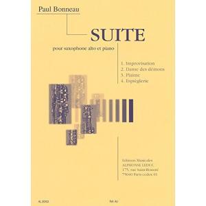 ボノー : 組曲 サクソフォンとピアノのための (サクソフォン、ピアノ) ルデュック出版 rora2020