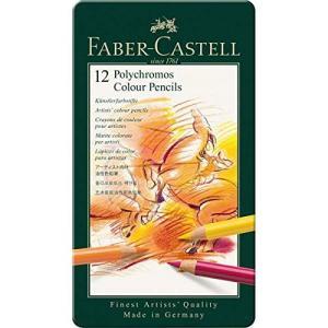 ファーバーカステル ポリクロモス色鉛筆 12色 缶入110012 [日本正規品]|rora2020