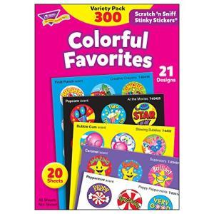 トレンド ごほうびシール 香り付 バラエティセット 300片 Trend Stinky Stickers Variety Pack Colorful rora2020