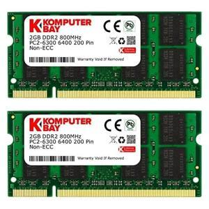 Komputerbay 日本進出記念 メモリ 2枚組 DDR2 800MHz PC2-6400 2GBX2 DUAL 200pin SODIMM ノー rora2020