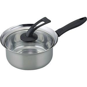 和平フレイズ 片手鍋 煮物 茹で物 コボレーズ 18cm ふきこぼれにくい IH対応 スタンド式ガラス蓋 KR-7863|rora2020