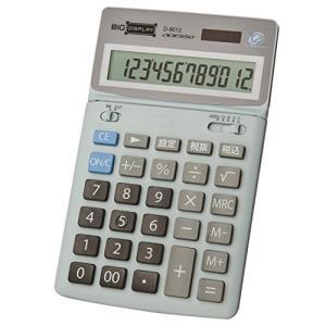 ADESSO 中型卓上電卓 12桁 ビッグディスプレイ D‐9012 グレー|rora2020
