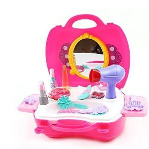 おままごと 収納トランクセット おもちゃ お化粧 メイクアップ コスメティック 女の子 メイクセット|rora2020