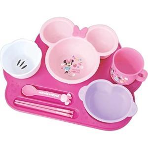 錦化成 ベビー食器セット ミニーマウス まんぞくプレート|rora2020