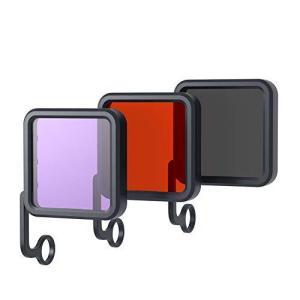 APEMANアクションカメラA66S/A68/A79/A80/A87用防水ハウジング専用フィルター、...