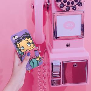 ベティ アイフォン iphone ケース ベティちゃん シリコン ケース 可愛い スマホケース iphone7 / 8 対応 ベティ・ブープ iPhone用 おしゃれ かわいい|rose-bowl