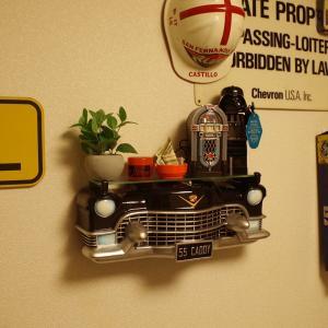 アメ車のカーシェルフ 壁掛け 棚 インテリア クラシックカー ディスプレイ アメリカン雑貨 アメリカ雑貨 rose-bowl