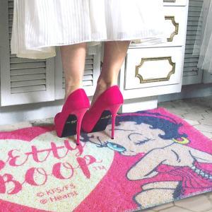 玄関マット 屋外 室内 滑り止め フロアーマット コイルマット アメリカン インテリア おしゃれ ベティーちゃん マット COIL MAT L サイズ|rose-bowl