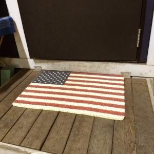 玄関マット 屋外 室内 滑り止め フロアーマット コイルマット アメリカンフラッグ インテリア おしゃれ USAFLAG 星条旗 マット COIL MAT S サイズ|rose-bowl