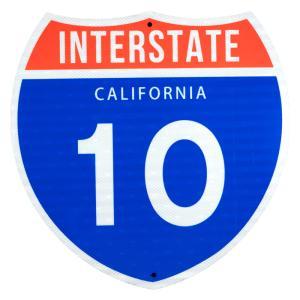 TRAFFIC SIGN / CALIFORNIA 10 rose-bowl
