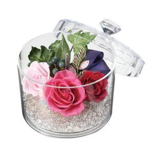 ジュエルケース ピンク プリザーブドフラワー ウエディング ブーケ 母の日 ギフト 贈り物 誕生日 送別会 結婚式|rose-f