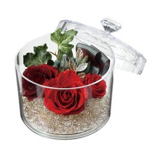ジュエルケース レッド プリザーブドフラワー母の日 ギフト 贈り物 誕生日 送別会 結婚式|rose-f