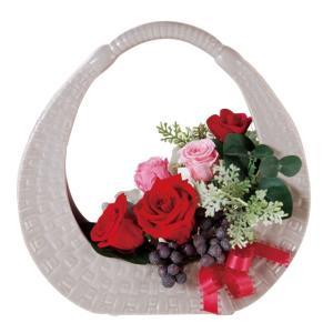 ピクニックベース レッド/ピンク  ウエディング ブーケ  母の日  結婚式  お祝い  ギフト   贈り物   送別会|rose-f