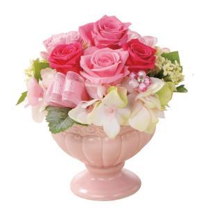 フェリーチェM ピンク ウエディング ブーケ 母の日 ギフト 贈り物 誕生日 送別会 結婚式 rose-f