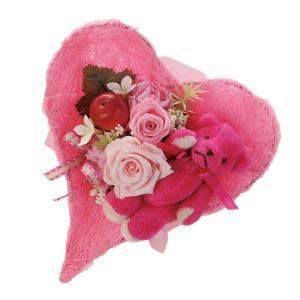 テディベア ホットピンク ウエディング ブーケ 母の日 ギフト 贈り物 誕生日 送別会 結婚式|rose-f