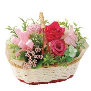 バスケットガーデン ピンク ウエディング ブーケ お見舞い 内祝い 母の日 贈り物 誕生日 送別会 結婚式|rose-f