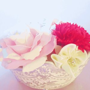 クリスタルパフュームフラワーポットアレンジ 母の日 ギフト 贈り物 誕生日 送別会 結婚式|rose-f