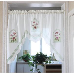 .送料込み のれん風カフェカーテン 150×95cm |rose-viva-shop
