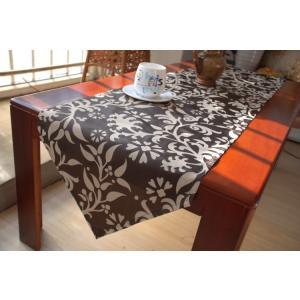 -テーブルセンター ブラウン モダンスタイル 40×180cm |rose-viva-shop