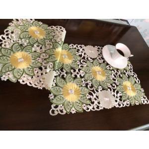 4枚セット ランチョンマット30X35cm ダリアお花 ALLカット ワーク刺繍薔薇   #401|rose-viva-shop