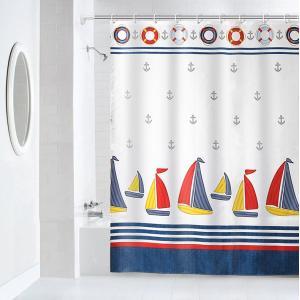 バス、シャワーカーテン150×180cm◇帆船柄 大人から子供ま|rose-viva-shop