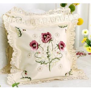 クッションカバー カットワー刺繍、 2枚セット  #229|rose-viva-shop