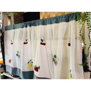 送料込み:2枚セットカフェカーテン 76縦×75cmX2枚 可愛いモチーフ,カントリー風お洒落カーテン|rose-viva-shop