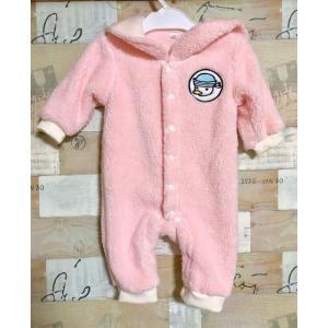 新生児用70cm 暖かいふわふわボアセーラーカバーオール/ロンパース タイプ2 rose-viva-shop