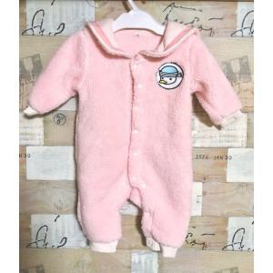 新生児用70cm 暖かいふわふわボアセーラーカバーオール/ロンパース タイプ1 rose-viva-shop