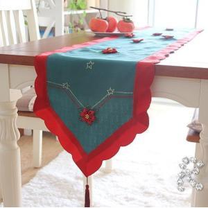 ♪Merry Xmas テーブルランナー40X180cm クリスマスコーディネート 赤|rose-viva-shop