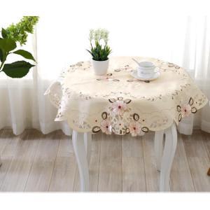 円形 テーブルクロス85cm#830/ コスモスの花|rose-viva-shop