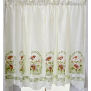 .送料込み 2枚セット のれん風カフェカーテン 横75cmX90cm 花柄|rose-viva-shop