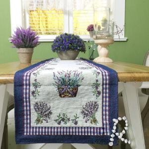 ヨーロッパ風 ラベンダー テーブルランナー33*180cm 濃い紫、パープル rose-viva-shop